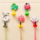 baratos Gadgets de Banheiro-4 pcs animal bonito dos desenhos animados ventosa titular escova de dentes acessórios do banheiro conjunto de parede ferramenta de suporte de sucção