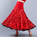 ราคาถูก ชุดเต้นรำลาติน-ชุดเต้นรำโมเดิร์น ด้านล่าง สำหรับผู้หญิง การฝึกอบรม / Performance Crystal Cotton / Tulle แพทเทิร์นหรือลายพิมพ์ / ชั้น สูง กระโปรง