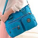 Χαμηλού Κόστους Τσάντες χιαστί-Γυναικεία Φερμουάρ Νάιλον Σταυρωτή τσάντα Συμπαγές Χρώμα Θαλασσί / Σκούρο μπλε