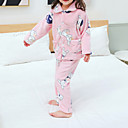 billige Undertøy og sokker til baby-2pcs Baby Jente Trykt mønster Spenne / Printer / Grunnleggende Nattøy Rosa
