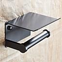 billige Fashion Rings-toalettpapirholder med hylle svart veggmontert mobiltelefon papirhåndkleholder dekorativ baderomsrullpapirholder kreativ