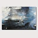 voordelige Abstracte schilderijen-Hang-geschilderd olieverfschilderij Handgeschilderde - Abstract Landschap Hedendaags Modern Inclusief Inner Frame