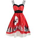 povoljno Santa odijela & Božićna haljina-Žene Party Osnovni A kroj Haljina Geometrijski oblici S naramenicama Do koljena