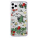 billiga Håraccessoarer-fodral Till Apple iPhone XS / iPhone X / iPhone 8 Plus Flytande vätska / Mönster / Glittrig Skal Träd / Jul PC