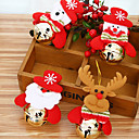 billige Julepynt-4stk santa anheng juletre pyntegjenstander hengende med jingle bjeller julepynt forsyninger