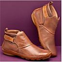 olcso Női csizmák-Női Csizmák Kényelmes cipők Lapos Kerek orrú PU Bokacsizmák Tél Barna / Zöld / Piros