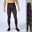 זול בגדי ריצה-בגדי ריקוד גברים טייץ לריצה מכנסי דחיסה טלאים ספורט חורף מכנסיים טייץ רכיבה על אופניים ריצה כושר וספורט להתאמן נושם ייבוש מהיר רך פס Honeycomb אפור אדום בהיר ירוק אדום כחול S M L XL XXL / אלסטיין