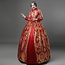 Χαμηλού Κόστους Μοδάτο Κολιέ-Βασίλισσα Ελισάβετ Βίντατζ Rococo Victorian Φορέματα Κοστούμι πάρτι Χορός μεταμφιεσμένων Τουαλέτα Γυναικεία Δαντέλα Σατέν Βαμβάκι Στολές Κρασί / Κίτρινο+Μπλε / Βυσσινί Πεπαλαιωμένο Cosplay / Φλοράλ