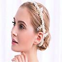 baratos Brincos-Imitação de Pérola / Strass / Liga Headbands com Pedrarias / Pérolas Sintéticas / Fitas 1 Peça Casamento Capacete