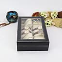 ราคาถูก กล่องเก็บเครื่องสำอางและเครื่องประดับ-12 สล็อตกล่องนาฬิกาหนัง pu กล่องเก็บนาฬิกาที่มีการล็อคและคีย์, วันเกิดวันพ่อของขวัญแม่ของขวัญสำหรับผู้ชายและผู้หญิง