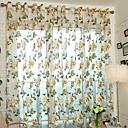 olcso Áltátszó drapériák-Virágos Csipke Egy panel Csipke Lányszoba   Curtains