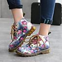 povoljno Modne naušnice-Žene Ravne cipele Ravna potpetica Okrugli Toe PU Jesen zima Crn / Plava / Sive boje