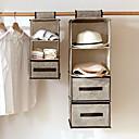 Χαμηλού Κόστους Τσάντες ταξιδίου-4 ράφια ύφασμα κρεμαστά ράφι για διοργανωτή ντουλαπιών με 2 λουράκια και 4 τσέπες, πτυσσόμενα