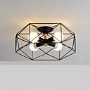 Χαμηλού Κόστους Χωνευτή Τοποθέτηση-4-κεφάλι σκανδιναβικό στυλ γεωμετρικός σχεδιασμός μοτίβο μεταλλική οροφή λάμπα σύγχρονη ημι-ξεκούραση mount mount καθιστικό τραπεζαρία υπνοδωμάτιο φως