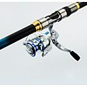 baratos Molinetes de Pesca-Cana de pesca Vara de Pesca Telespin 270 cm Telescópio Extra pesado (XH) Pesca Geral