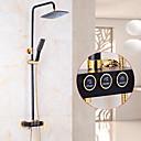 povoljno Slavine za umivaonik-Slavina za tuš - Suvremena Zidne slavine Keramičke ventila Bath Shower Mixer Taps