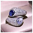 billige Vintage Ring-Dame Ring 1pc Blå Messing Geometrisk Form Mote Daglig Ferie Smykker geometriske Stjerne Kul
