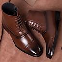 Χαμηλού Κόστους Αντρικές Μπότες-Ανδρικά Μπότες Μάχης PU Άνοιξη / Φθινόπωρο Μπότες Περπάτημα Φορέστε την απόδειξη Μποτίνια Μαύρο / Σκούρο καφέ / Κίτρινο