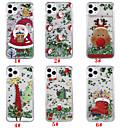 저렴한 아이폰 케이스-케이스 제품 Apple 아이폰 11 / 아이폰 11 프로 / iPhone 11 Pro Max 플로잉 리퀴드 / 패턴 / 글리터 샤인 뒷면 커버 크리스마스 TPU