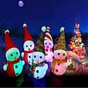 povoljno Prekrivači za auto-sjedala-3pcs Božić vodio svjetlosni viseći snjegović privjesak božićno drvce ukras slučajnih boja