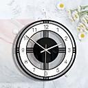 povoljno Zidni satovi-m.skarpajući ukras za dom crno-bijeli okrugli kreativni zidni sat dnevna soba spavaća soba prozirni akrilni retro sat