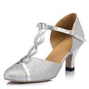 Χαμηλού Κόστους Ημέρα επιστροφής στο σπίτι-Γυναικεία Μοντέρνα παπούτσια / Αίθουσα χορού PU Πόρπη Τακούνια Αγκράφα Πυκνό τακούνι Εξατομικευμένο Παπούτσια Χορού Ασημί / Επίδοση
