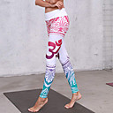 Χαμηλού Κόστους Γυμναστική, τρέξιμο και ρούχα γιόγκα-Γυναικεία Ψηλή Μέση Παντελόνι για γιόγκα 3D Εκτύπωση Βιολετί Μπλε Απαλό Μαύρο / Κόκκινο Ουρανί+'Ασπρο Μπλε+Ροζ Spandex Τρέξιμο Fitness Γυμναστήριο προπόνηση Καλσόν Ποδηλασία Κολάν Αθλητισμός