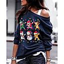 Χαμηλού Κόστους Santa Suits & Χριστούγεννα-Γυναικεία Βασικό Πουλόβερ - Στάμπα