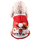 Χαμηλού Κόστους Χριστουγεννιάτικα κοστούμια για κατοικ-Σκυλιά Γάτες Φούτερ με Κουκούλα Veste Χριστούγεννα Ρούχα για σκύλους Κόκκινο Στολές Χάσκυ Λαμπραντόρ Μάλαμουτ Αλάσκας Πολυεστέρας Καμβάς Μεικτό Υλικό Χριστούγεννα XS Τ M L XL XXL