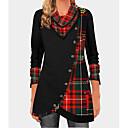 ราคาถูก กระเป๋าตังค์-สำหรับผู้หญิง เสื้อเชิร์ต ลายพิมพ์ รูปเรขาคณิต สีดำ