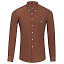 billige Motering-Skjorte Herre - Ensfarget Grunnleggende Svart