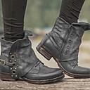 ราคาถูก ชั้นวางของในห้องน้ำ-สำหรับผู้หญิง บูท รองเท้าสบาย ๆ ส้นแบน ปลายกลม PU บู้ทสูงระดับกลาง ฤดูหนาว สีดำ / น้ำตาลเข้ม / สีเทา