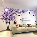 baratos Adesivos de Parede-3d casal deixou a árvore de acrílico adesivos de parede sala de estar decoração do quarto