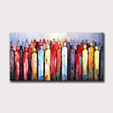 זול ציורים מופשטים-ציור שמן צבוע-Hang מצויר ביד - מופשט אנשים מודרני ללא מסגרת פנימית