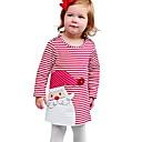 Χαμηλού Κόστους Φορέματα για κορίτσια-Νήπιο Κοριτσίστικα Χριστούγεννα Φόρεμα Βυσσινί