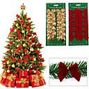 olcso Karácsonyi dekoráció-36db karácsonyfa dísz bowknot party otthoni esküvői dekoráció