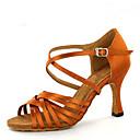 olcso Latin cipők-Női Dance Shoes Szatén Latin cipők Illesztés Magassarkúk Kúpsarok Személyre szabható Barna