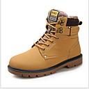 ราคาถูก รองเท้าบูตผู้ชาย-สำหรับผู้ชาย รองเท้าคอมแบท PU ฤดูหนาว บูท บู้ทสูงระดับกลาง สีดำ / สีน้ำตาล / สีเหลือง