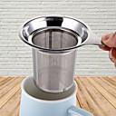 billige Kaffe og te-gjenbrukbare rustfritt stål netting te infuser tefil tekanne te blad krydder filter drinkware