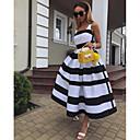 billige Fuskediamant-Dame Elegant A-linje Kjole - Stripet Med stropper Maksi