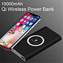 ราคาถูก พาวเวอร์แบงค์-10000 มิลลิแอมป์ชั่วโมงธนาคารพกพาสากล qi ชาร์จไร้สายสำหรับ iphone ซัมซุง s6 s7 s8 power bank โทรศัพท์มือถือไร้สายชาร์จ