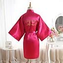 abordables Lingerie-Normal Polyester Robes de Chambre De Genre Neutre Fleur Mariage Couleur Unie Mariage
