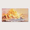 olcso Absztrakt festmények-Hang festett olajfestmény Kézzel festett - Absztrakt Landscape Modern Tartalmazza belső keret