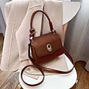 olcso Keresztpántos táskák-Női Cipzár PU Vállon átvetős táska Fekete / Barna / Rubin