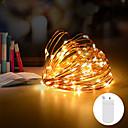 billige LED-stringlys-1stk 2m 20 leds vanntett graland led streng Cooper wire fe lys cr2032 batteri juletre bryllupsfest dekorasjon