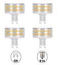 baratos Lâmpadas LED em Forma de Espiga-4pçs 9 W Lâmpadas Espiga Luminárias de LED  Duplo-Pin 800 lm E14 G9 T 90 Contas LED SMD 2835 Fofo Criativo Regulável Branco Quente Branco 220-240 V