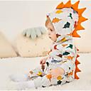 billige BabyGutterdrakter-Baby Gutt Aktiv / Grunnleggende Dinosaur Trykt mønster Trykt mønster Langermet Endelt Regnbue