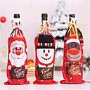 billige Vin Tilbehør-borddekor middagsselskap rødvin jul santa tre flaske dekkposer setter flaske deco for nyttår xmas middagsselskap