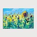 hesapli Çiçek/Botanik Resimleri-Hang-Boyalı Yağlıboya Resim El-Boyalı - Soyut Çiçek / Botanik Modern Iç çerçeve dahil