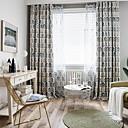 billiga Genomskinliga gardiner-Blom Integritet Två paneler Gardin Sovrum   Curtains